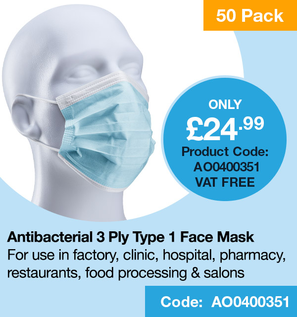 3-ply Antibacterial Face mask