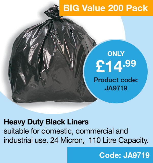 Refuse Sacks Black pack of 200