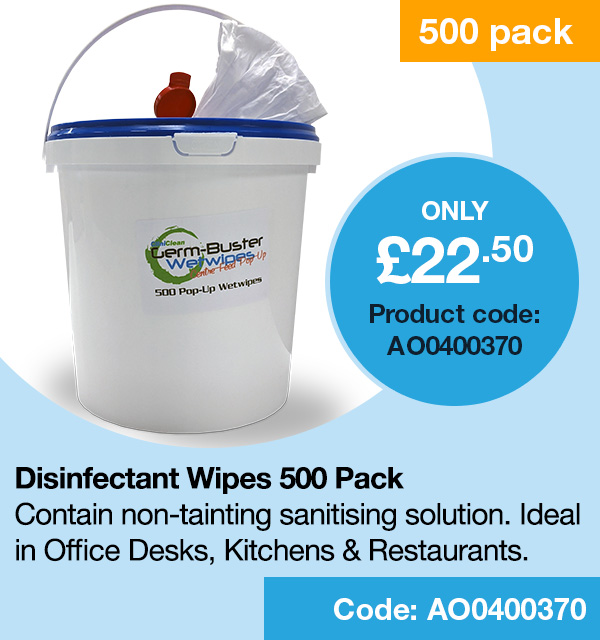 Clean Disinfectant Wipes x 500