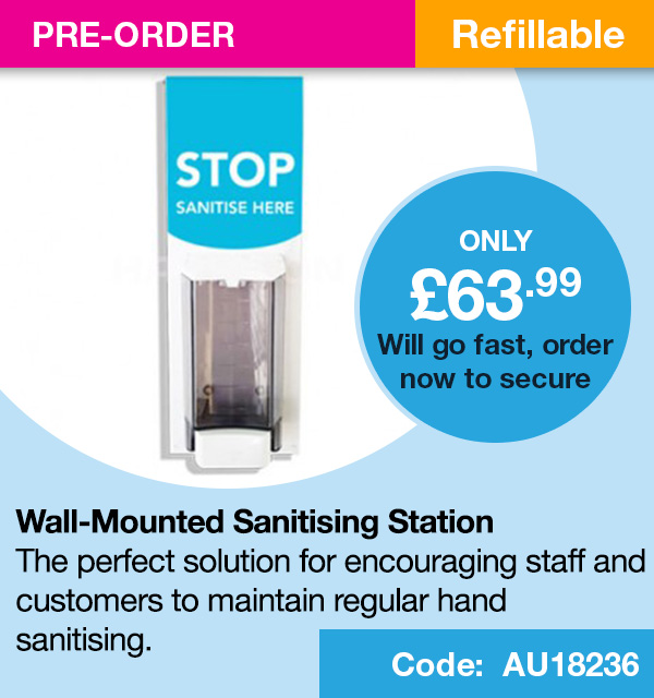 Wall Mounted Sanitising Station