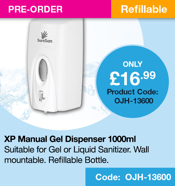 SURESAN XP MANUAL SANITIZER GEL DISPENSER (1000ml)