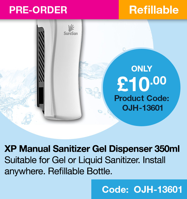 SURESAN XP MANUAL S MODEL SANITIZER GEL DISPENSER (350 ML)